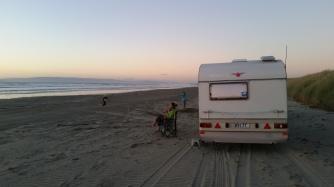 NZ Oreti Sonnenuntergang