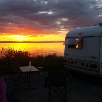 NZ Taupo Sonnenuntergang