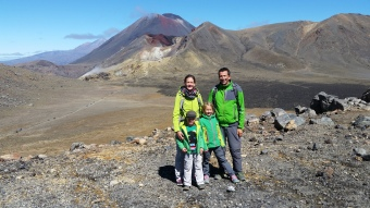 NZ Tongariro Family