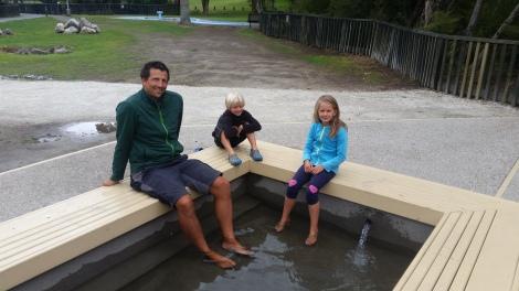 NZ Rotorua Fußbad