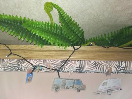 NZ Wohnwagen Plastikfarn