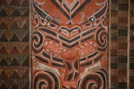 NZ Auckland Museum Schnitzerei