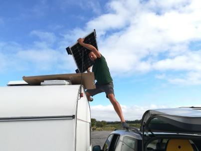 NZ Solarzelle Installation