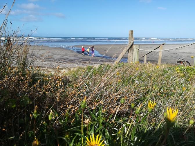 NZ Waihi Beach Dünenblick