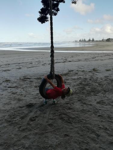 NZ Waihi Beach Schaukel