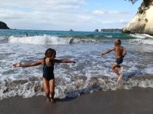 NZ Cathedral Cove Schwimmen