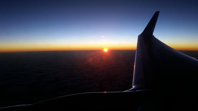 Air Vanuatu Sonnenuntergang