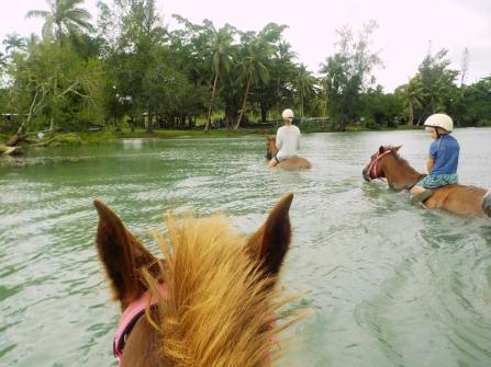 Vanuatu Reiten im Wasser