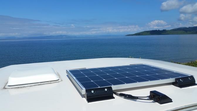 NZ Solarzelle auf dem Wohnwagen