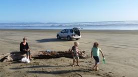 NZ Picknick auf der Strandstrasse