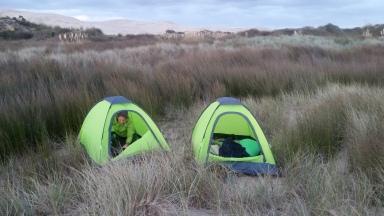 NZ Zelten in den Duenen