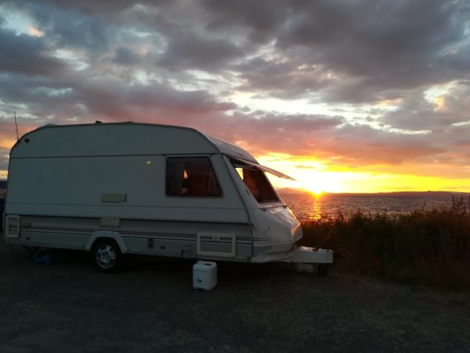 NZ Ulla im Sonnenuntergang