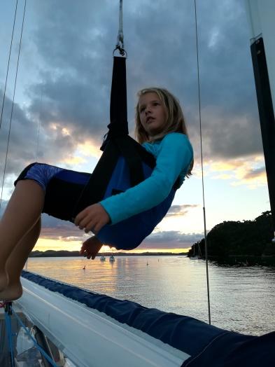 NZ Antonia im Bootsmannsstuhl