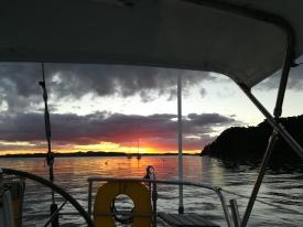 NZ Blutroter Sonnenuntergang