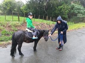 NZ Ponyreiten im Regen
