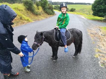 NZ Ponyreiten vor dem ganz grossen Regen