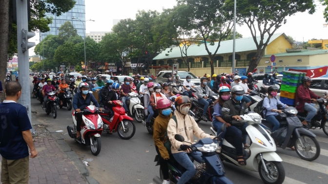 Saigon, Mofa-Verkehr