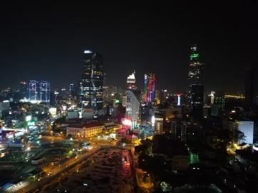 Saigon, nächtlicher Blick vom Hochhaus