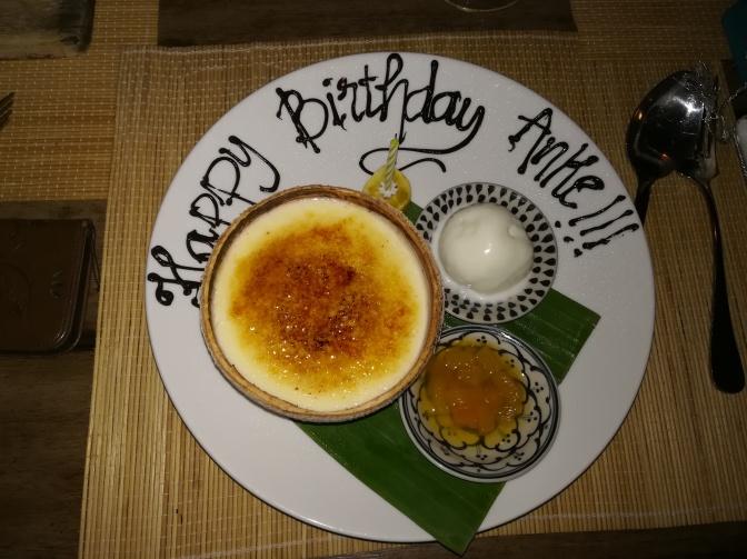 Geburtstags-Dessert fuer Anke