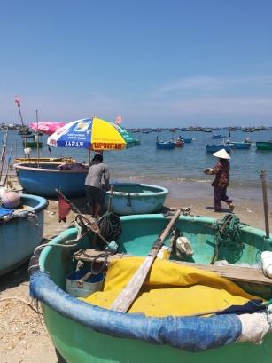 Mui Ne, runde Fischerboote