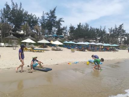 Spielen am An Bang Beach