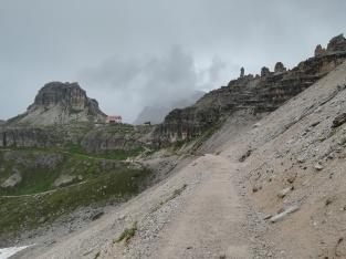Weg zur Drei-Zinnen-Hütte