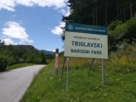 Eingang zum Triglav-Nationalpark
