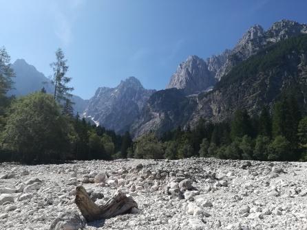 Bachbett oberhalb von Kranjska Gora